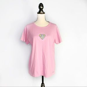 Life is Good Love Makes the World Goes Round Tee